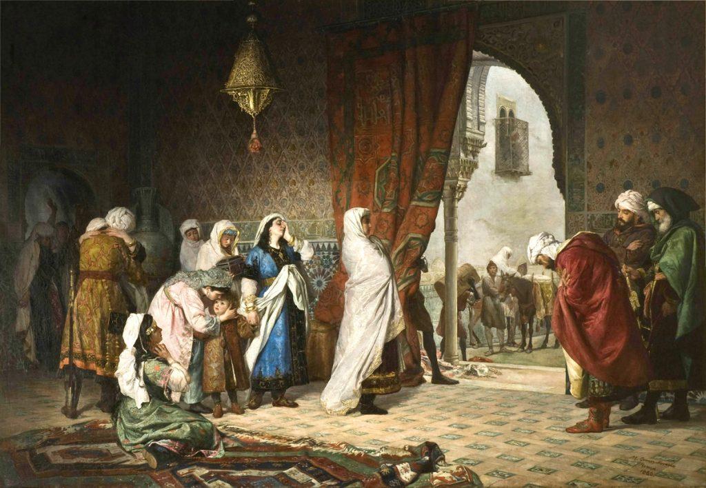 Salida de la familia de Boabdil de la Alhambra